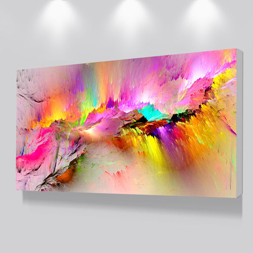 Oil Abstract Canvass Painting (Unframed)