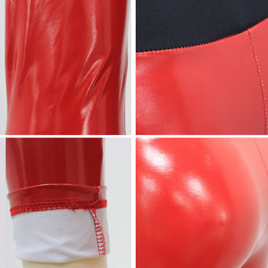 Wet Look PU Leather High Waist Leggings