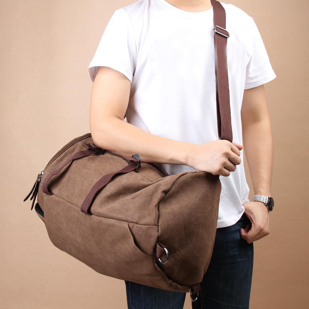 Canvas Rucksack Laptop Duffle Bag