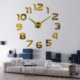 Large Acrylic 3d Wall Clock Design