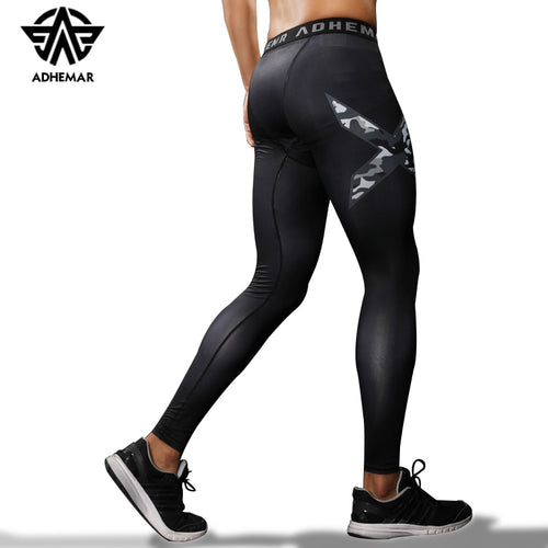 Adhemar men's running tights compression pants for exercise quick-drying legging for men
