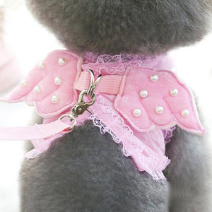 Princess Angel Wing Costume with Dog Leash