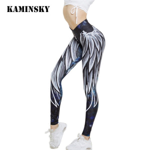 3D Wing Print Leggings for Women