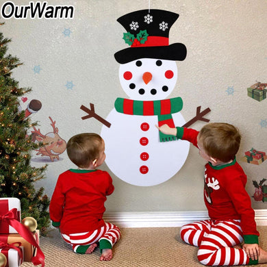 DIY Wall Hanging Christmas Snowman