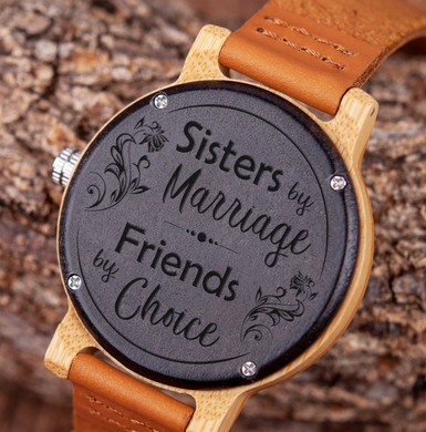 Sisters by Marriage for Sister-in-Law Wooden Watch