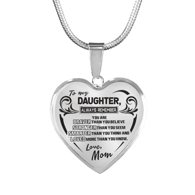 A Reminder from Mom to Daughter Necklace