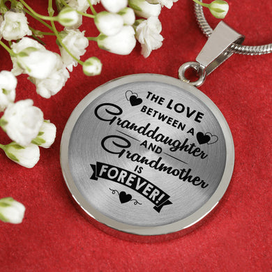The Love Between for Granddaughter and for Grandmother Necklace