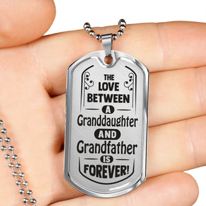 The Love Between for the Granddaughter and Grandfather Necklace