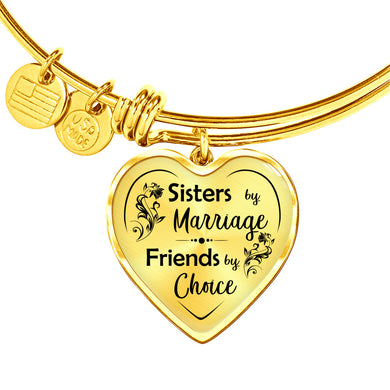 Sisters by Marriage for Sister-in-Law Heart Bangle