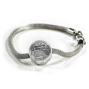 A Reminder from Dad to Daughter Bracelet