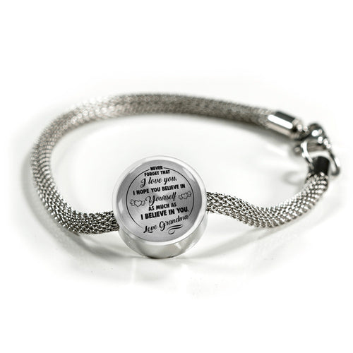 Believe in Yourself from Grandma to Granddaughter Bracelet