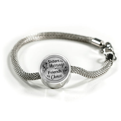 Sisters by Marriage for Sister-in-Law Bracelet