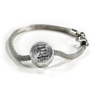 Marriage Made You Family for Mother-in-Law Bracelet
