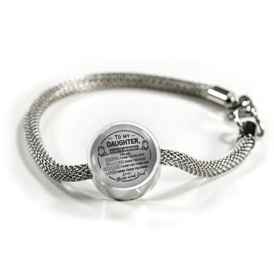 A Reminder from Mom and Dad to Daughter Bracelet
