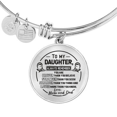 A Reminder from Mom and Dad to Daughter Bangle