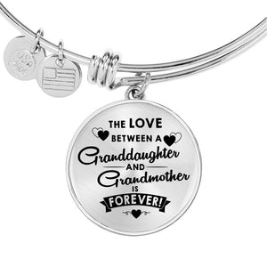 The Love Between for Granddaughter and for Grandmother Bangle