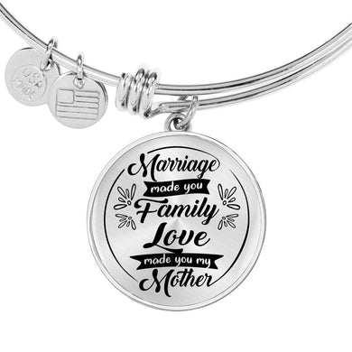 Marriage Made You Family for Mother-in-Law Bangle