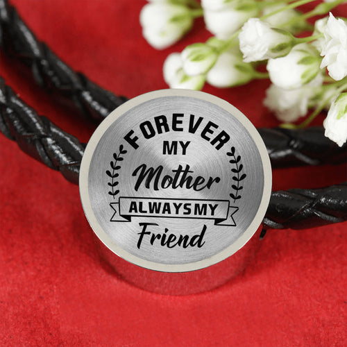 Always My Friend For Mom Leather Bracelet
