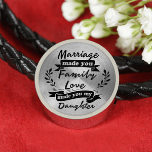 Marriage Made You My Daughter for Daughter-in-Law Leather Bracelet