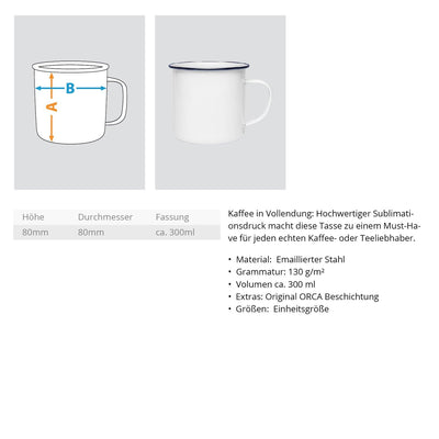 BERGWEH - Emaille Tasse
