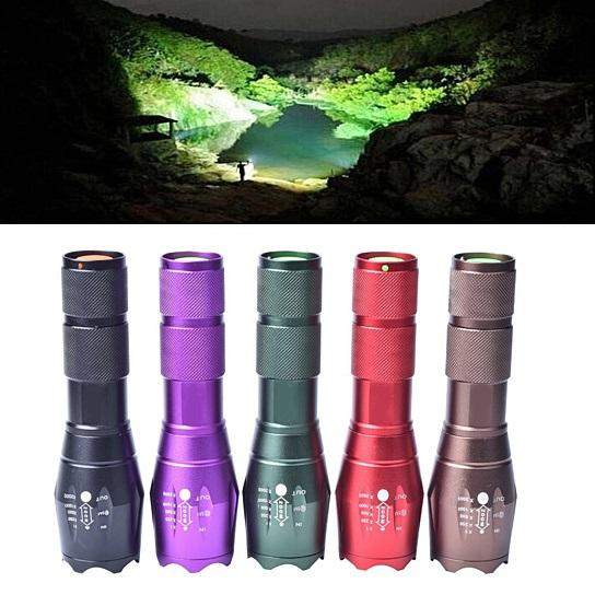 Grab-N-Go Zoomable Focusing Flashlight In 5 Colors