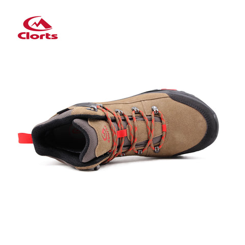 Clorts  man and women's Mid Waterproof Hiking Boot Suede Leather Hiker Lightweight Outdoor Backpacking Shoe