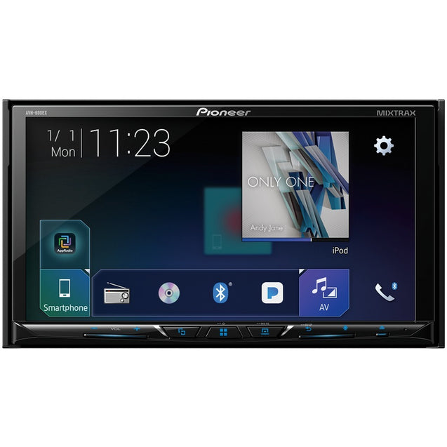 "Pioneer 7"" Double-din In-dash Dvd Receiver With Bluetooth &am"