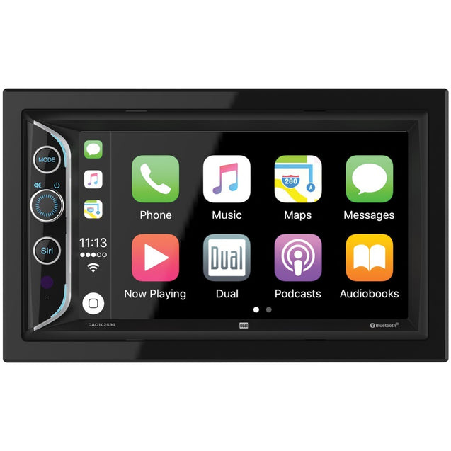 "Dual 6.2"" Double-din In-dash Mechless Am And Fm Receiver With"