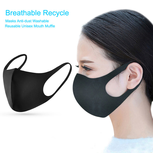 1Pcs Breathable Recycle Face Masks Elastic Anti Dust Washable Reusable Unisex Face Mouth Cover Muffle Dustproof Protective Mask