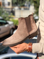 SUEDE LEATHER BEIGE CHELSEA  BOOTS - Hollo Men