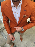 CINNAMON COTTON BLAZER - Hollo Men