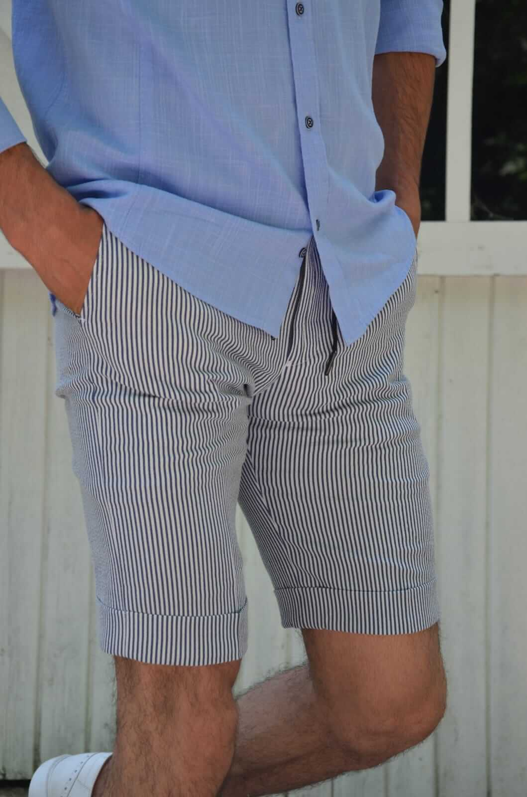 NAVY BLUE SHORTS - Hollo Men