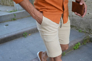 BEIGE SHORTS - Hollo Men