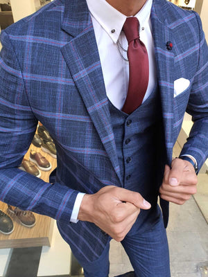 HAMPTON INDIGO SUIT - Hollo Men