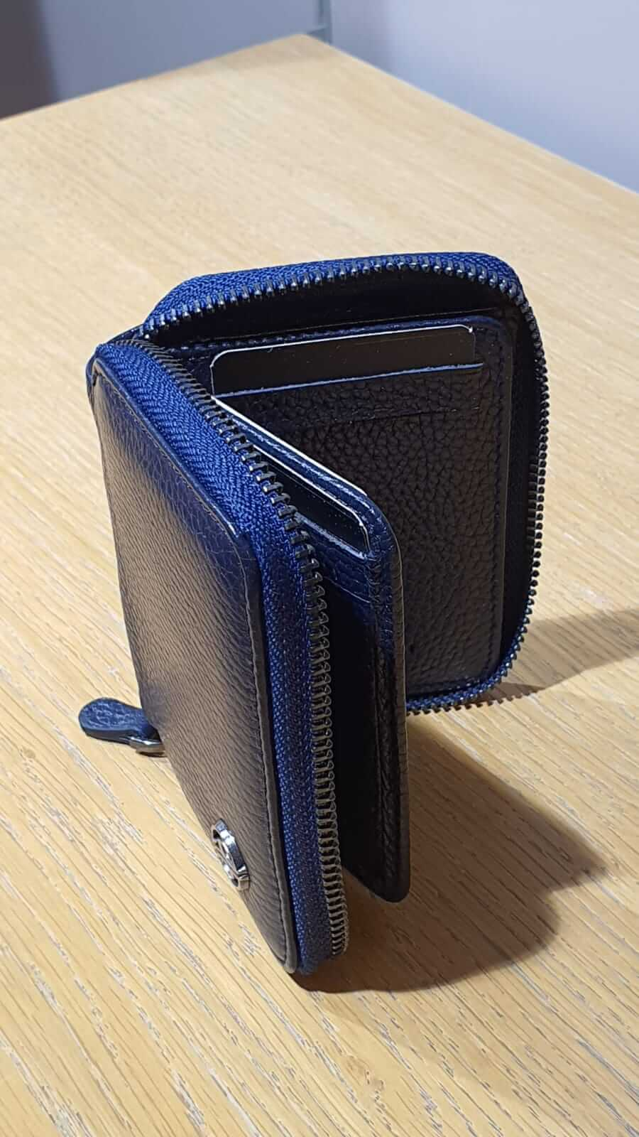NAVY BLUE CARD WALLET - Hollo Men