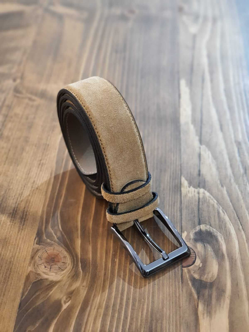 SUEDE CAMEL BELT - Hollo Men