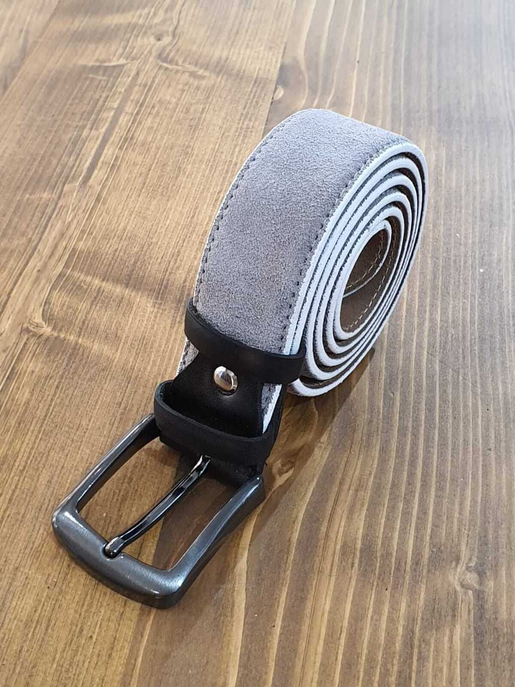 SUEDE GRAY BELT - Hollo Men
