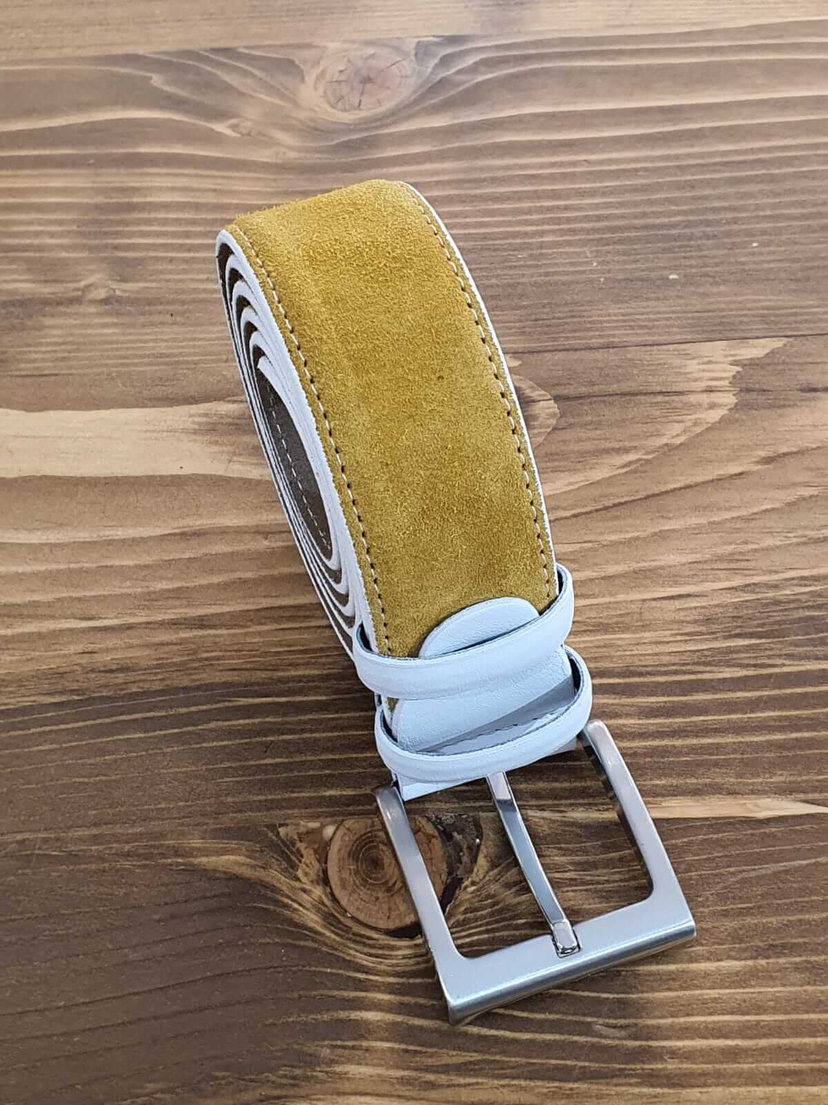 SUEDE YELLOW BELT - Hollo Men