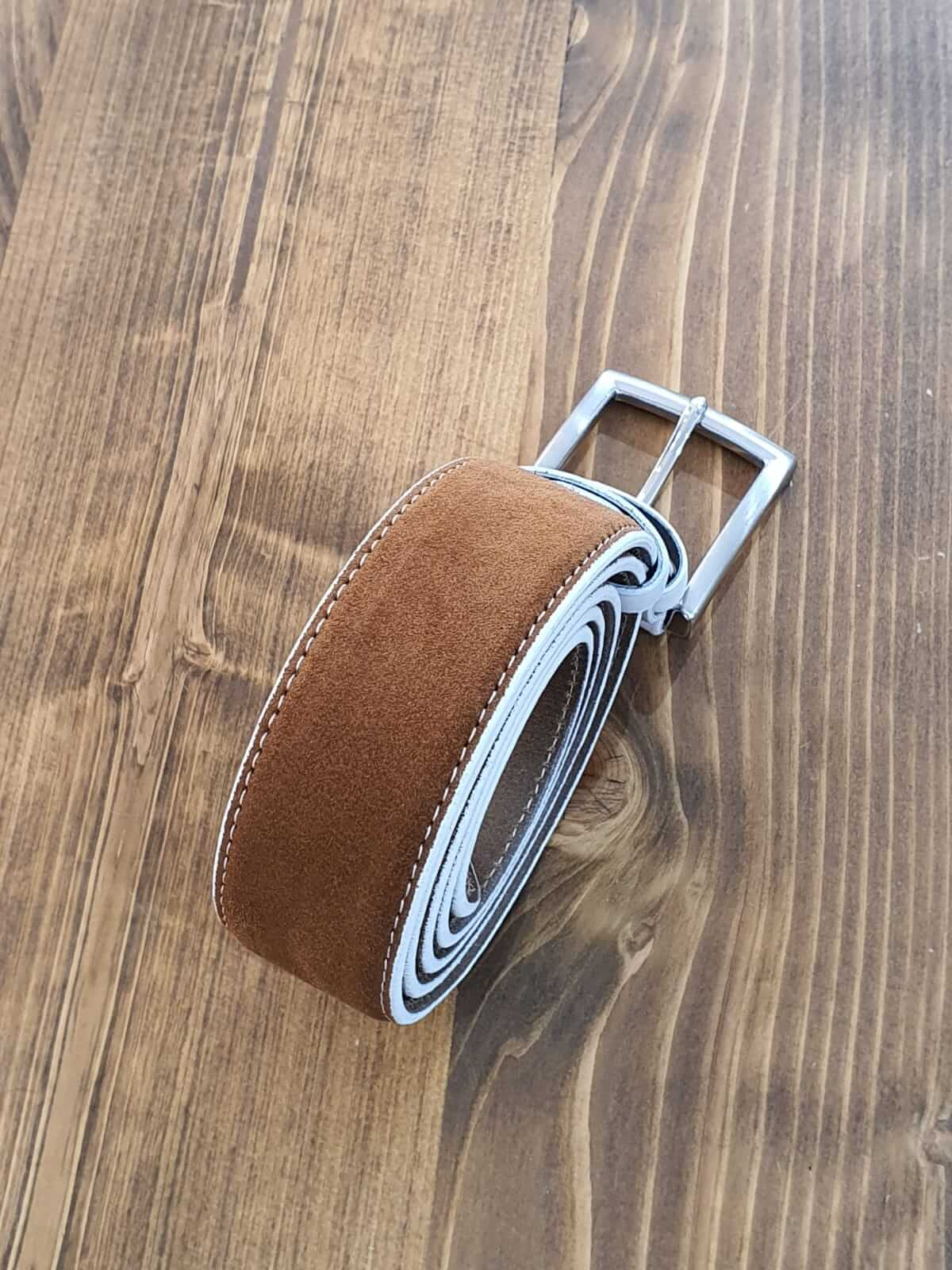 SUEDE CINNAMON BELT - Hollo Men