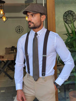 HolloMen BROWN SUSPENDERS - Hollo Men
