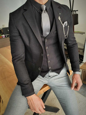 HolloMen SLIM FIT BLACK SUIT - Hollo Men