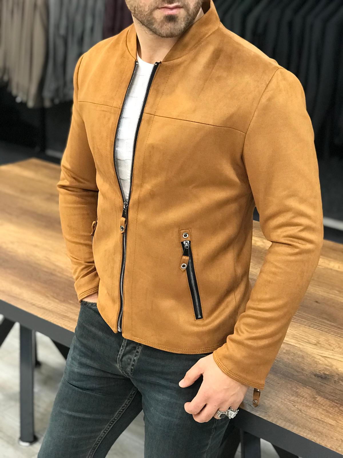 The Arctic Zippered Camel Coat - Hollo Men