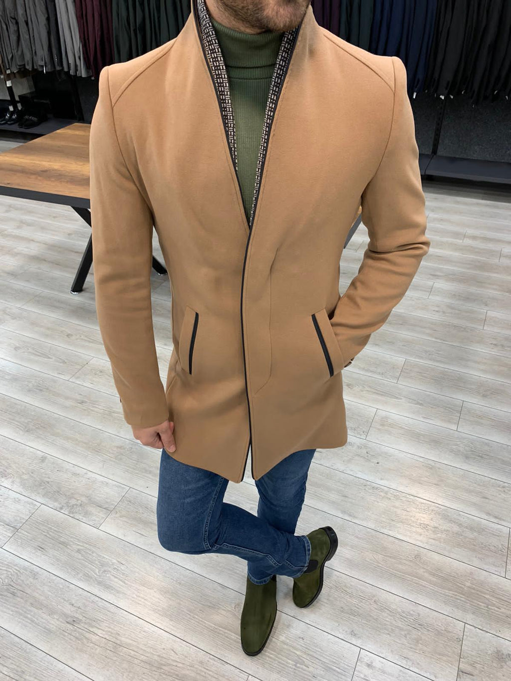 The Arctic Tan Stamp Coat - Hollo Men
