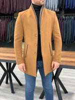The Olwen Mustard Stamp Coat - Hollo Men