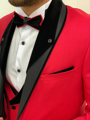 Berretta Slim Fit Red Tuxedo - Hollo Men