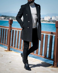 Colden Black Wool Coat - Hollo Men