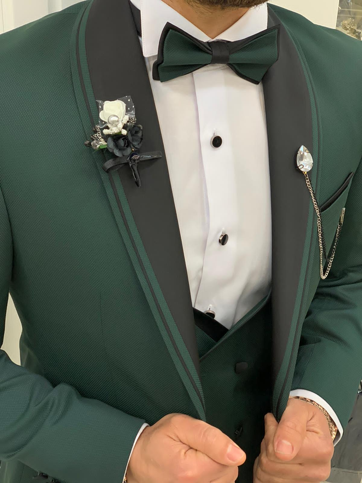 Murad Green Groom Tuxedo - Hollo Men