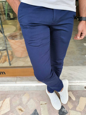 Plaid Indigo Pants - Hollo Men