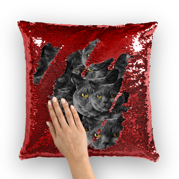 Your Face Custom Sequin Cushion Cover