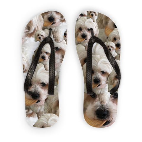 Your Face Custom Adult Flip Flops